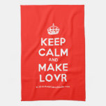 [Crown] keep calm and make lovr  Kicthen Towels