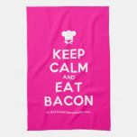 [Chef hat] keep calm and eat bacon  Kicthen Towels