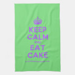 [Crown] keep calm and eat cake  Kicthen Towels