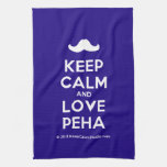 [Moustache] keep calm and love peha  Kicthen Towels