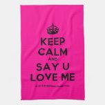 [Crown] keep calm and say u love me  Kicthen Towels