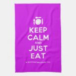 [Cutlery and plate] keep calm and just eat  Kicthen Towels