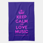 [Dancing crown] keep calm and love music  Kicthen Towels