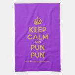 [Crown] keep calm and pun pun  Kicthen Towels