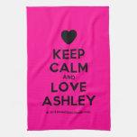 [Love heart] keep calm and love ashley  Kicthen Towels