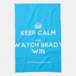 [Crown] keep calm and watch brady win  Kicthen Towels