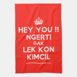 [Crown] hey you !! ngerti gak lek kon kimcil  Kicthen Towels