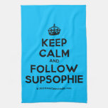 [Crown] keep calm and follow supsophie  Kicthen Towels