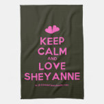 [Two hearts] keep calm and love sheyanne  Kicthen Towels