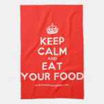 [Crown] keep calm and eat your food  Kicthen Towels