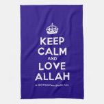[Crown] keep calm and love allah  Kicthen Towels