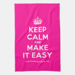 [Crown] keep calm and make it easy  Kicthen Towels
