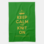 [Knitting crown] keep calm and knit on  Kicthen Towels