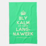 [Crown] bly kalm dis amper lang- naweek  Kicthen Towels