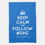 [Crown] keep calm and follow #dhc  Kicthen Towels