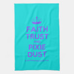 [Knitting crown] faith trust and pixie dust  Kicthen Towels
