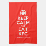 [Cutlery and plate] keep calm and eat kfc  Kicthen Towels