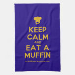 [Chef hat] keep calm and eat a muffin  Kicthen Towels