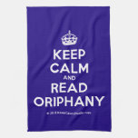 [Crown] keep calm and read oriphany  Kicthen Towels