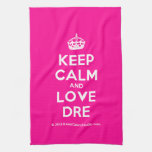[Crown] keep calm and love dre  Kicthen Towels