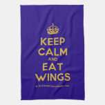 [Crown] keep calm and eat wings  Kicthen Towels