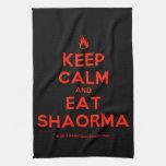 [Campfire] keep calm and eat shaorma  Kicthen Towels