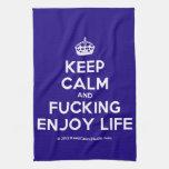 [Crown] keep calm and fucking enjoy life  Kicthen Towels