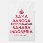 [Crown] saya bangga menggunakan bahasa indonesia  Kicthen Towels