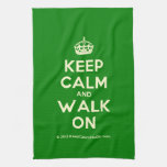 [Crown] keep calm and walk on  Kicthen Towels