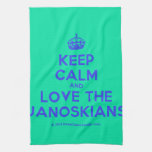 [Crown] keep calm and love the janoskians  Kicthen Towels