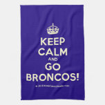 [Crown] keep calm and go broncos!  Kicthen Towels