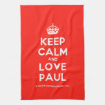 [Crown] keep calm and love paul  Kicthen Towels