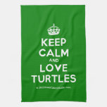 [Crown] keep calm and love turtles  Kicthen Towels