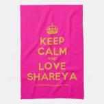[Crown] keep calm and love shareya  Kicthen Towels