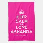 [Crown] keep calm and love ashanda  Kicthen Towels