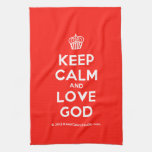 [Cupcake] keep calm and love god  Kicthen Towels