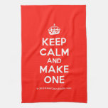 [Crown] keep calm and make one  Kicthen Towels