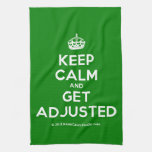 [Crown] keep calm and get adjusted  Kicthen Towels