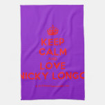 [Crown] keep calm and love nicky longo  Kicthen Towels