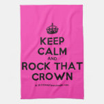[Crown] keep calm and rock that crown  Kicthen Towels