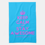 [Crown] keep calm and stay awesome  Kicthen Towels