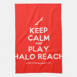 [Skateboard] keep calm and play halo reach  Kicthen Towels
