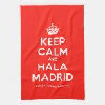 [Crown] keep calm and hala madrid  Kicthen Towels
