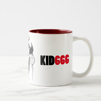 KID666 Felino Two-Tone Coffee Mug