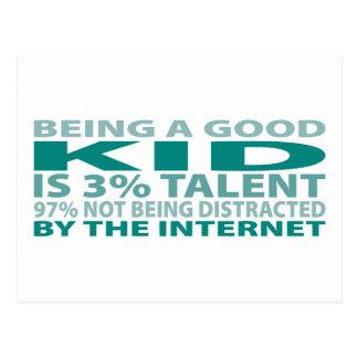 Kid 3% Talent Postcard