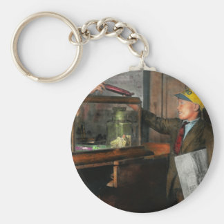Kid - A visit to the candy store 1910 Basic Round Button Keychain