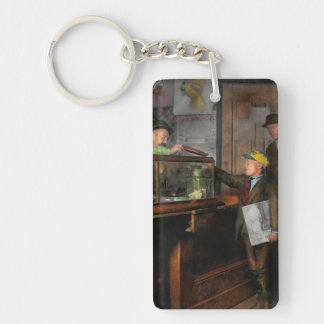 Kid - A visit to the candy store 1910 Double-Sided Rectangular Acrylic Keychain