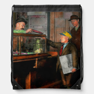 Kid - A visit to the candy store 1910 Drawstring Bag