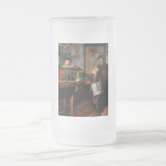 Kid - A visit to the candy store 1910 Frosted Glass Beer Mug