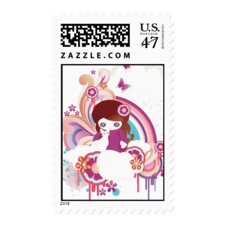 Kid and Cat b Postage